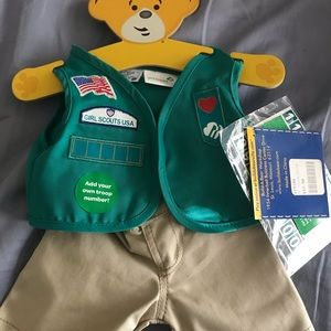 Build A Bear Girls Scout outfit.